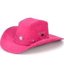 chapéu fourcountry americano couro rosa  trançado - kanui