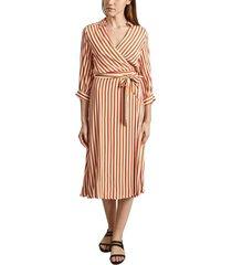 relaxante striped print wallet dress