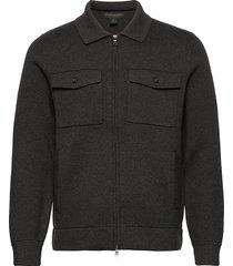 supima® cotton sweater jacket gebreide trui cardigan grijs banana republic
