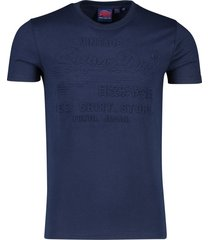 superdry t-shirt donkerblauw opdruk