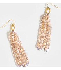 elisabeth crystal linear earrings - pale pink