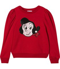 monnalisa red sweatshirt