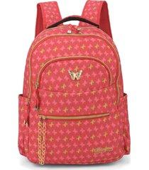 mochila infantil luxcel princess vermelha - kanui