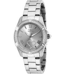 reloj invicta acero modelo 203ah para dama, colección angel
