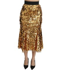 lovertjes shiny high waist midi rok