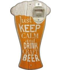 abridor de garrafa de parede chopp beer is always... kasa ideia - multicolorido - dafiti