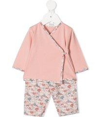 bonpoint floral print tracksuit set - pink
