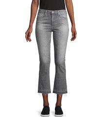 ag jeans women's slim-fit high-rise cropped flare jeans - grey - size 24 (0)
