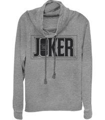 fifth sun dc batman the joker text box cowl neck juniors pullover fleece