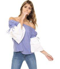 blusa azul laila micol