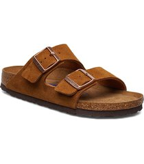 arizona soft footbed shoes summer shoes flat sandals brun birkenstock