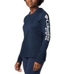 columbia women's pfg hoodie tidal tee active top