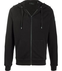 belstaff elbow-patch zipped hoodie - black