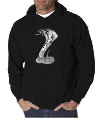 la pop art men's word art hooded sweatshirt - tyles of snakes