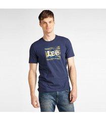 t-shirt korte mouw lee t-shirt camo package dark navy