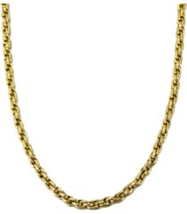 """esquire men's jewelry triple woven link 22"""" chain necklace, created for macy's"""
