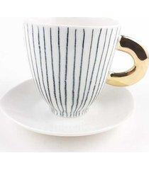filiżanka porcelanowa b&w do herbaty