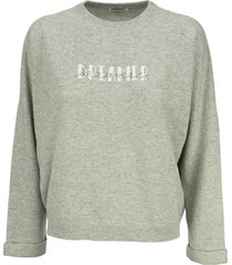 brunello cucinelli wool, cashmere and silk sweater with written