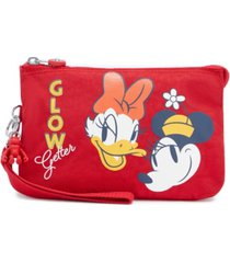 kipling disney's mickey and friends creativity xl wristlet