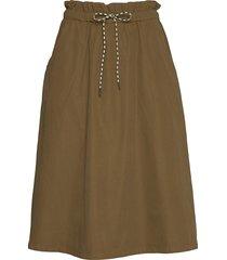 tallia knälång kjol beige mbym