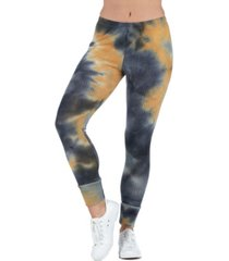 women's tie dye print ankle cuff sweatpants