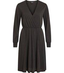 jurk met lange mouwen v-hals