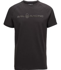race logo tee t-shirts short-sleeved svart sail racing