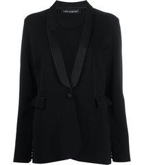 neil barrett blazer slim com abotoamento simples - preto