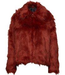 sahn outerwear faux fur rood tiger of sweden jeans