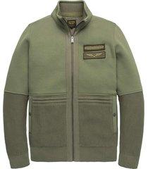 zip jacket fleece sweat deep lichen green