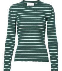 teri crew neck st 11201 t-shirts & tops long-sleeved groen samsøe samsøe