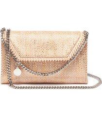 'falabella' metallic woven mini crossbody bag