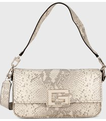 bolso beige-gris guess