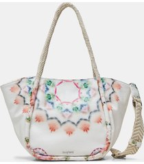 2 in 1 tote bag - white - u