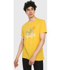 camiseta amarillo-multicolor gap