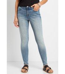 maurices womens jeans denimflex™ curvy high rise jegging blue denim