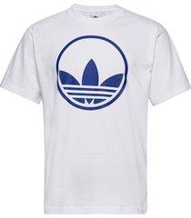 circle trefoil t-shirts short-sleeved vit adidas originals