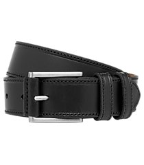 jos. a. bank stitched- edge leather belt - long