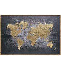 dekoracja ścienna płótno mapa świata