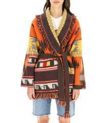 alanui wool and cashmere cowhide cardigan