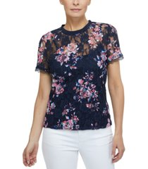 laundry by shelli segal lace t-shirt
