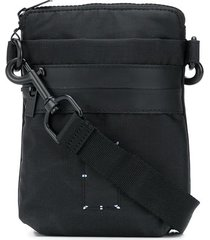 mcq multi-pocket messenger bag - black