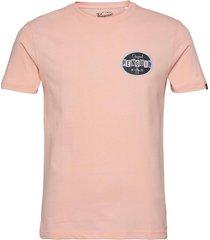 ss future retro logo t-shirts short-sleeved rosa original penguin