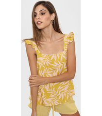 blusa amarilla nano blusa lola estampada