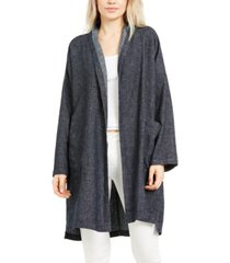 eileen fisher organic cotton open-front coat, regular & petite