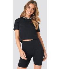 na-kd basic basic jersey shorts - black