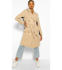 contrast colour trenchcoat, black