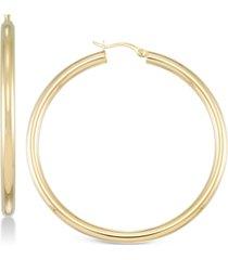 simone i. smith polished hoop earrings