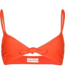 mara hoffman carla tie-front bikini top - orange