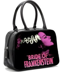 universal monsters pink bride of frankenstein  punk bowler vintage handbag